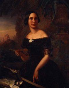 Fanny Huenerwadel by Ölbild von Anna Fries, Rom 1854, 100 x 80 cm.Anna Fries wurde 1827 in Zürich geboren und starb 1901 in Sestri di Levante. / Public domain