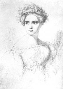 Fanny Hensel Mendelssohn by her later husband, Wilhelm Hensel (1794-1861) / Public domain